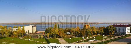 Samara, Rússia. Paisagem de outono.