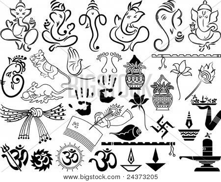 Ganesha & Wedding Symbols