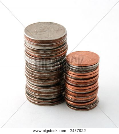 Two Piles Of Coins