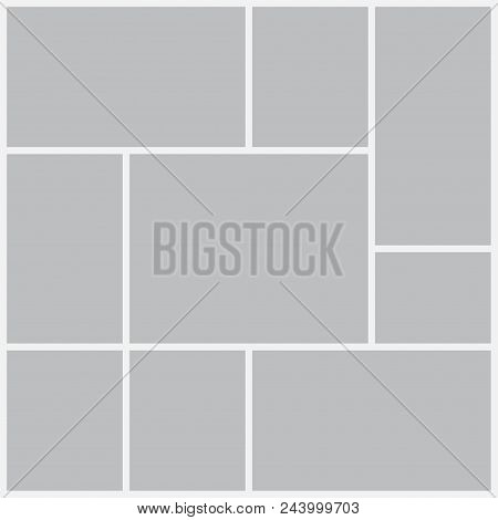 poster of Templates Collage Frames For Photo Or Illustration. Montage Photo Frame Template. Vector Mood Board