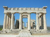 image of piraeus  - Part of the Aphaia Temple located in Aegina island  - JPG