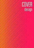 Cool Cover Template. Minimal Trendy Vector With Halftone Gradients. Geometric Cool Cover Template Fo poster