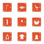 Resistance To Wear Icons Set. Grunge Set Of 9 Resistance To Wear Vector Icons For Web Isolated On Wh poster