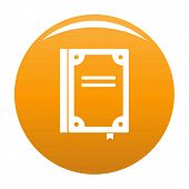 Book Publication Icon. Simple Illustration Of Book Publication Vector Icon For Any Design Orange poster
