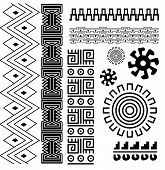 stock photo of american indian  - Vector image of ancient american pattern on white - JPG