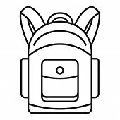Backpack Icon. Outline Illustration Of Backpack Vector Icon For Web Design Isolated On White Backgro poster
