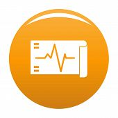 Electrocardiogram Icon. Simple Illustration Of Electrocardiogram Vector Icon For Any Design Orange poster