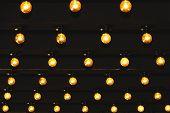 Beautiful Retro Luxury Light Lamp Under Ceiling Black Color poster