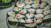Sushi Set Sashimi And Sushi Rolls, Maki poster
