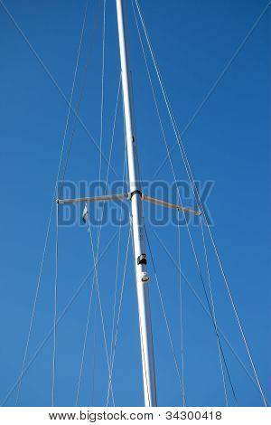 Close Up Photo Of A Sail Boat Mast