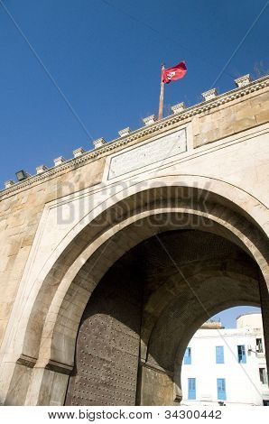 Bab El Bhar (porte De France) Sea Gate Tunis Tunisia