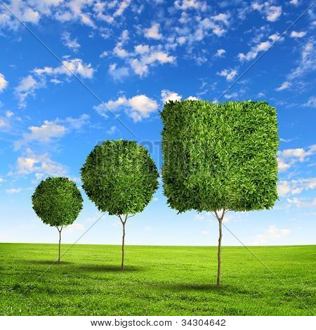 Forma de grama verde