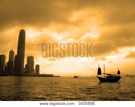 Sunset In Hong Kong