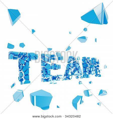 Broken team metaphor, smashed word explosion
