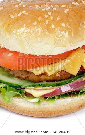 Tasty Hamburger Closeup