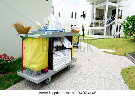 The Hotel Cleaning Tool Trolley
