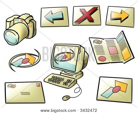 Funky Computer Web Icons