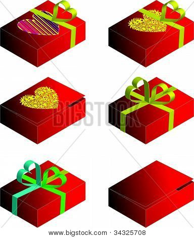 Vector de caja de regalo