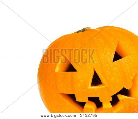 Halloween Pumpkin With Clipping Path