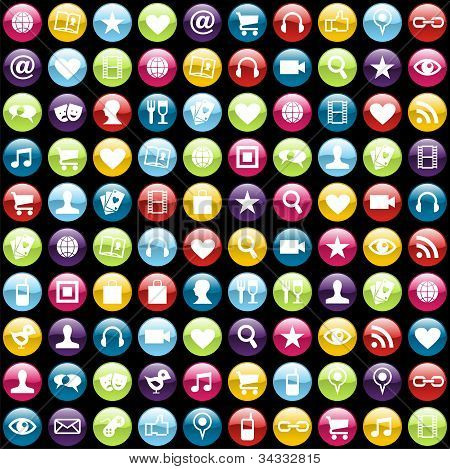 Mobile Phone App Icons Background