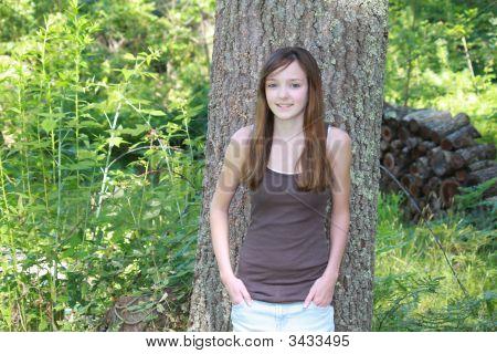 Smiling Female Teen