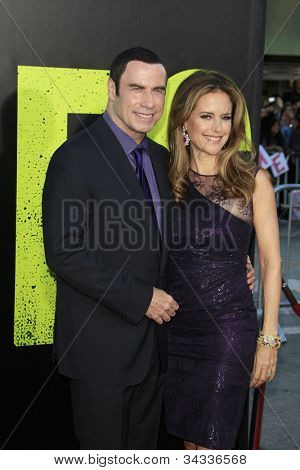 LOS ANGELES - JUN 25: John Travolta, Kelly Preston at the premiere of Universal Pictures' 'Savages' at Westwood Village on June 25, 2012 in Los Angeles, California