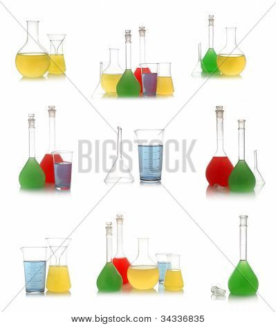 Chemical Retorts Set