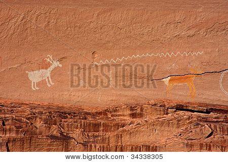 Ancient Anasazi And Navajo Pictographs