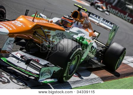 VALENCIA, SPAIN - JUNE 24: Nico Hulkenberg in the Formula 1 Grand Prix of Europe, Valencia Street Circuit. Spain on June 24, 2012