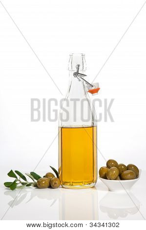 Luxurious Extra Virgin Olive Oil Background.