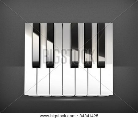 Octave, piano keys vector