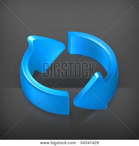 Blue cycle arrows, vector