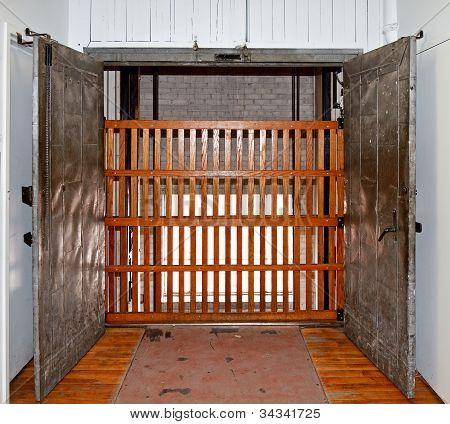 Elevator Shaft With Gate