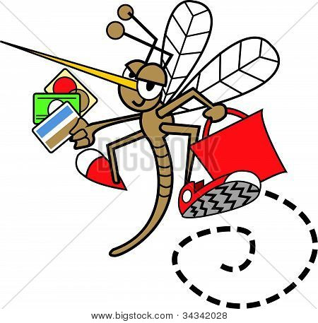 Mosquito With Credit Cards