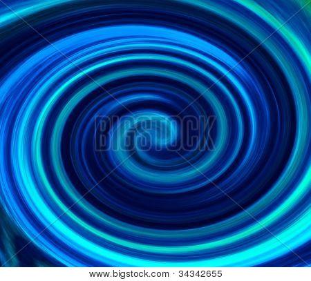 Blue vortex background.