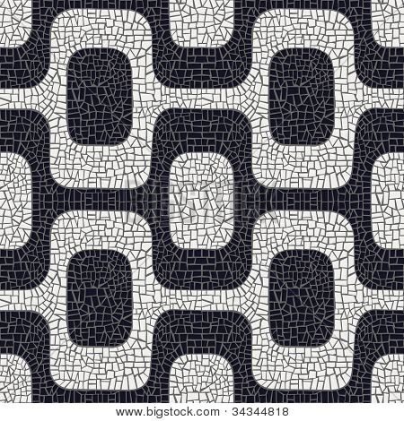 Abstract Black And White Pavement Pattern
