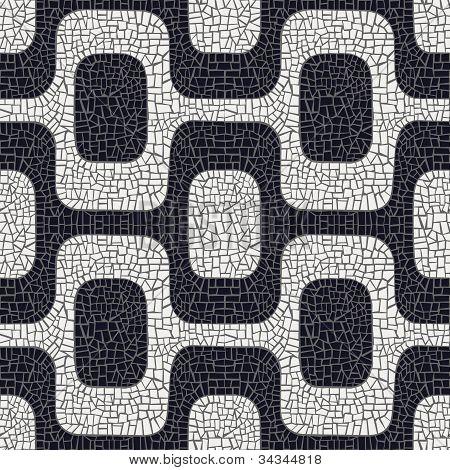 Abstrato preto e branco padrão de pavimento