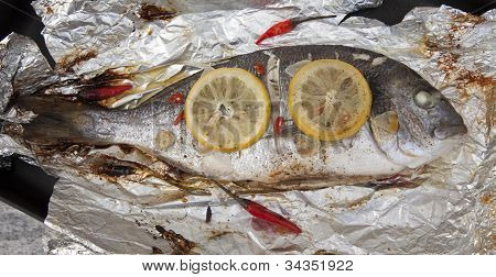 Cooked Gilthead Sea Bream