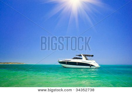 Small Luxurious Powerboat.
