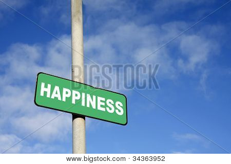 Green Happiness Sign