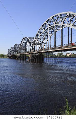 Railway Bridge - Riga - Portrait