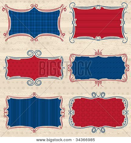 Usa Decorative Label, Vector Illustration