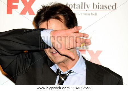 LOS ANGELES - JUN 26:  Charlie Sheen arrives at the FX Summer Comedies Party at Lure on June 26, 2012 in Los Angeles, CA