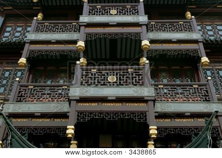 Traditional Chinese Architecture Closeup