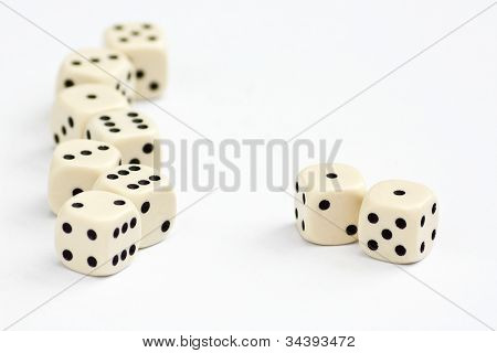 White Dice Frame