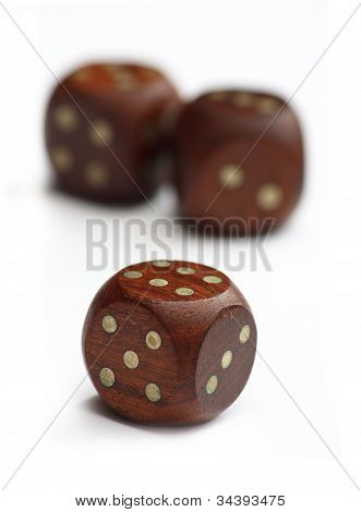 Three Wooden Dice