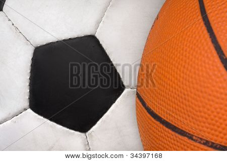 Two Sports Balls From Most Popular Games