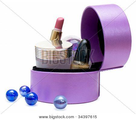 Cosmetics In Box (purple)