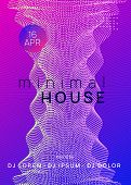 Electronic Event. Dynamic Gradient Shape And Line. Abstract Discotheque Magazine Concept. Neon Elect poster
