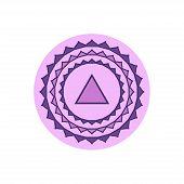 Sahasrara.crown Chakra.seventh Chakra Symbol Of Human. Vector Illustration Isolated On White Backgro poster